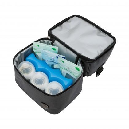 Double Layer Breast Milk Storage Cooler Bag - GREY